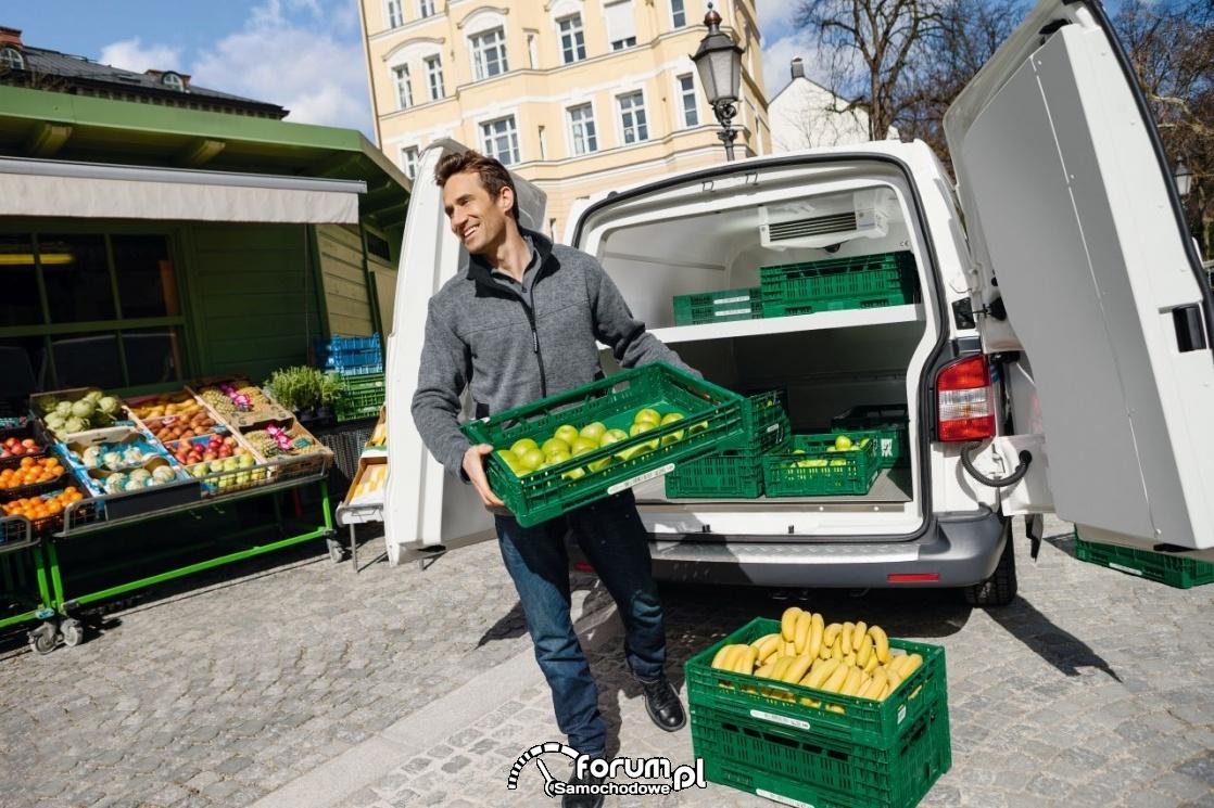Klimatyzowana przestrzeń do przewozu ważyw i owoców