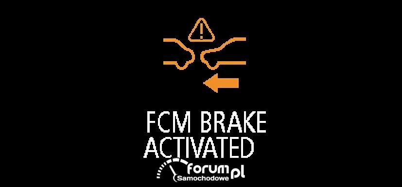 Kontrolka FCM - system zapobiegania kolizjom czołowym