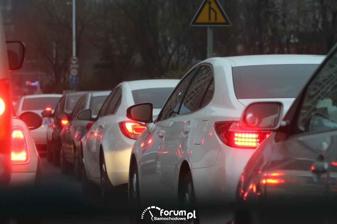 Korek, samochody w korku