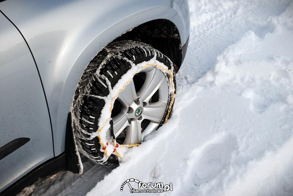 Łańcuchy śniegowe na koła