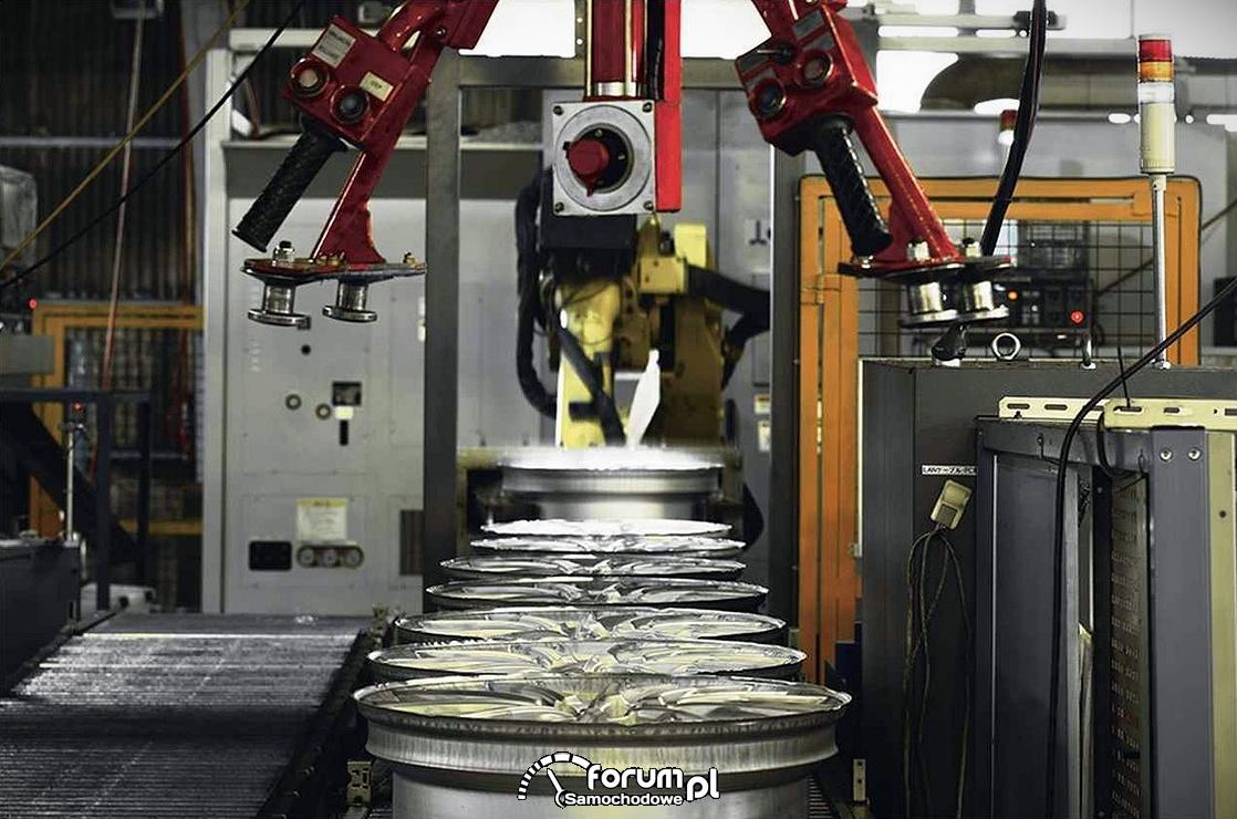 Linia produkcyjna alufelg dla samochodów marki Lexus