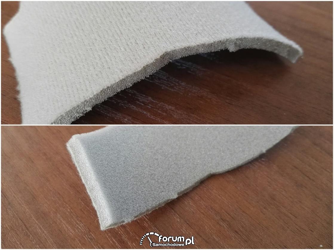 Materiał na podsufitkę 4 mm gąbki, kolor szaro-beżowy