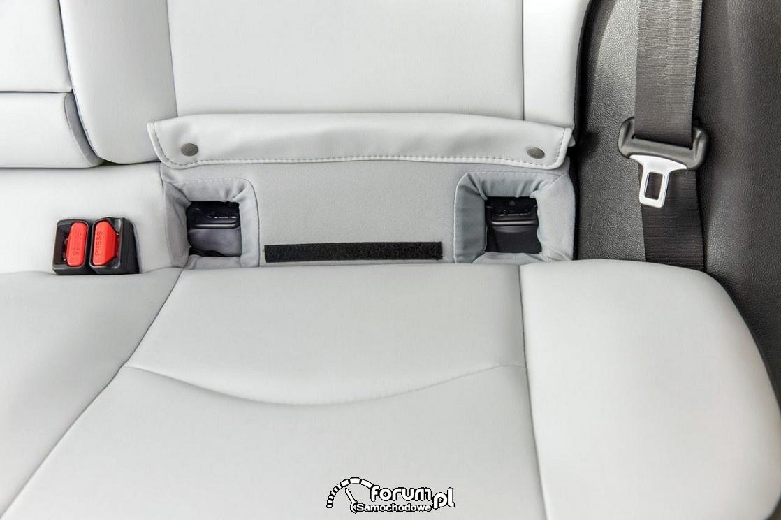 Mocowanie fotelika isofix, łatwy dostęp zgodny z LATCH, Toyota