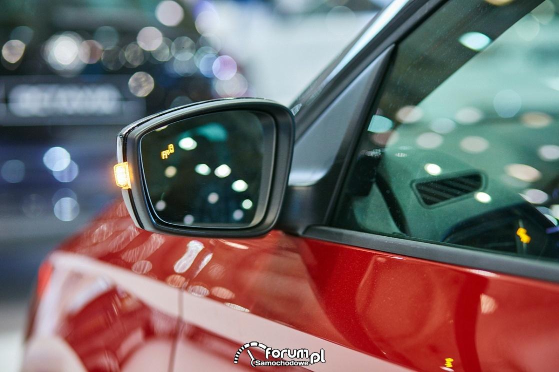Monitorowanie martwego pola - lusterko samochodowe