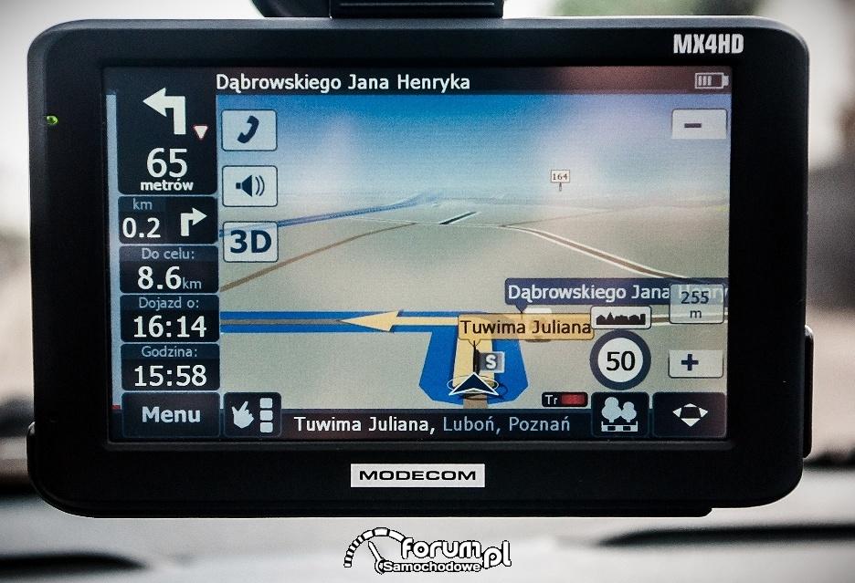 Nawigacja MODECOM MX4 HD, wyświetlacz