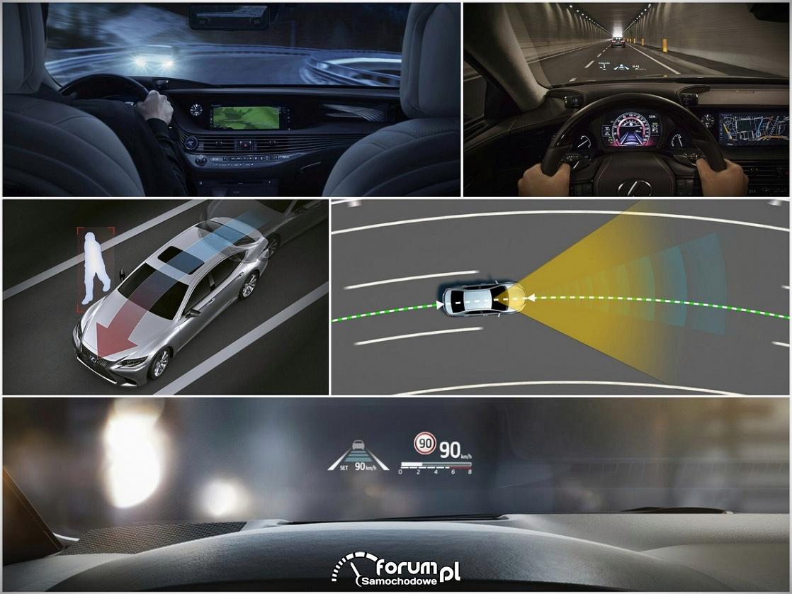 Pakiety systemów bezpieczeństwa Lexusa
