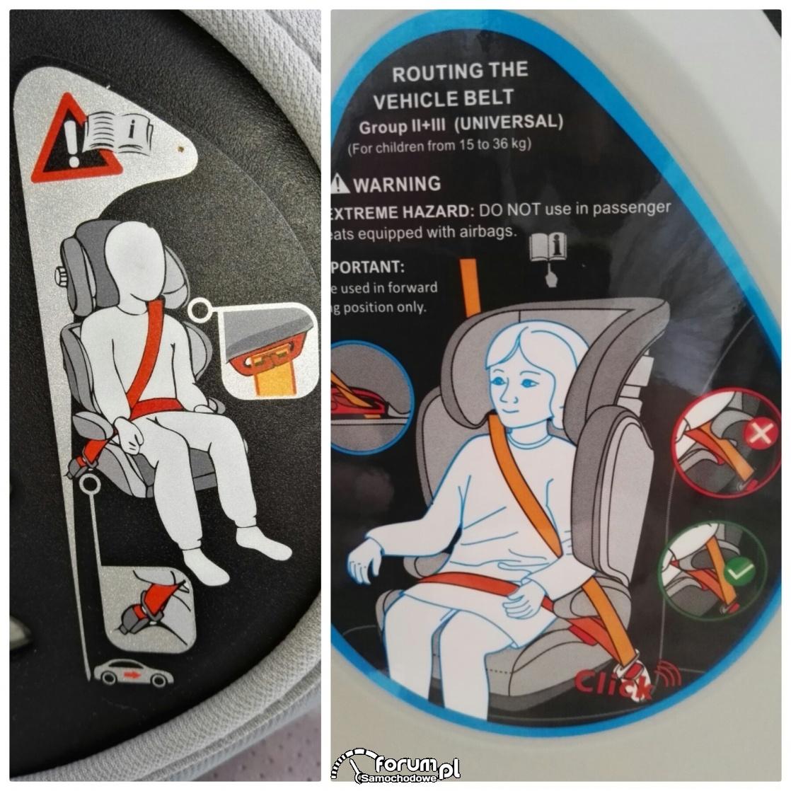 Jak zapinać pasy dziecku w foteliku samochodowym?