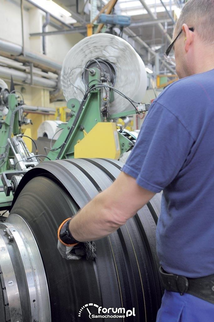 Produkcja opon, fabryka opon Michelin