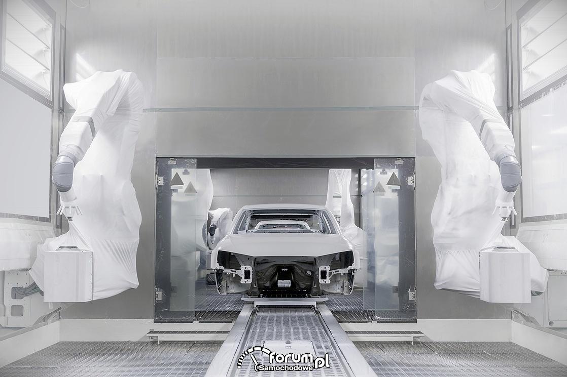 Roboty w lakierni samochodowej
