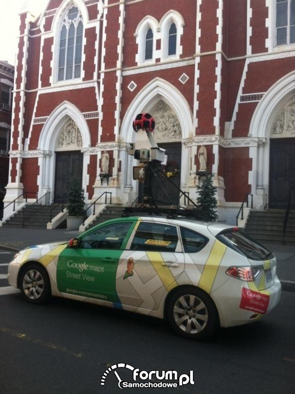 Samochód Google maps Street View