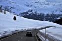 Samochód, góry, zima