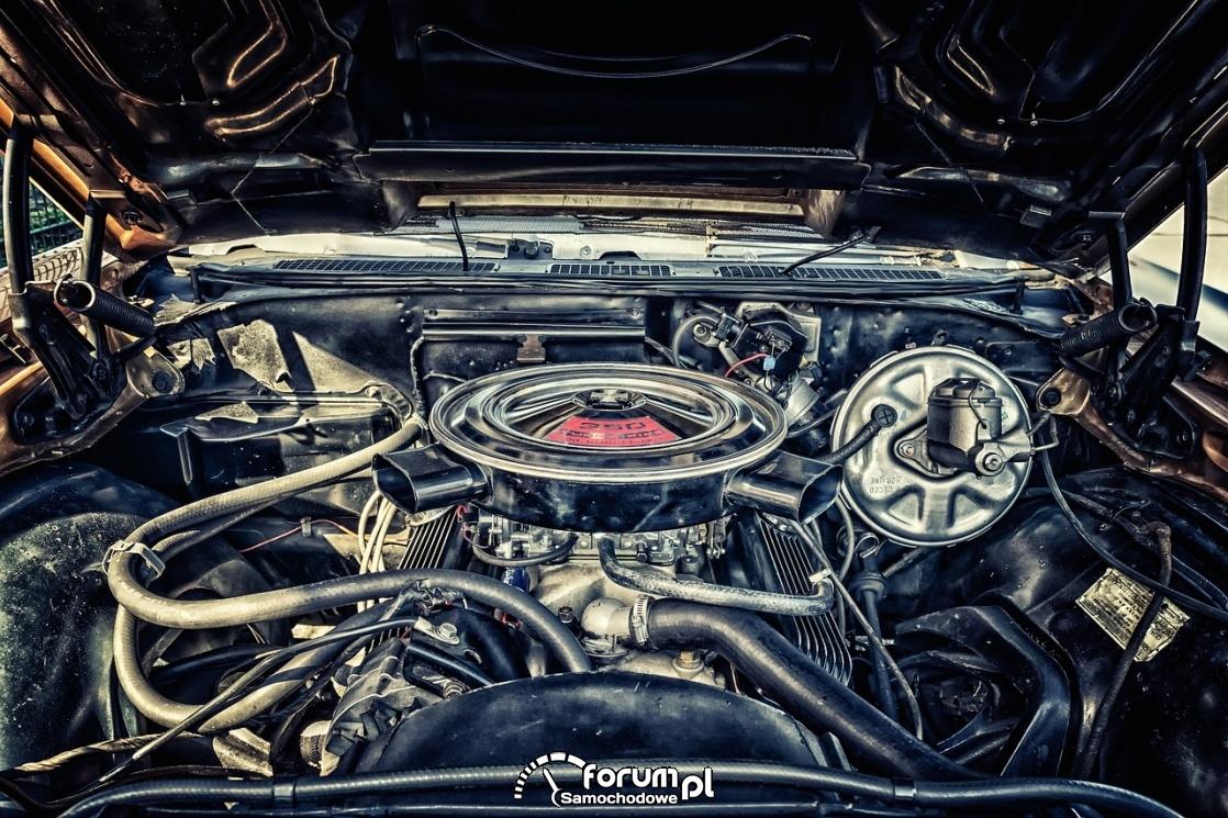 Silnik w układzie V z okrągłym filtrem powietrza na górze