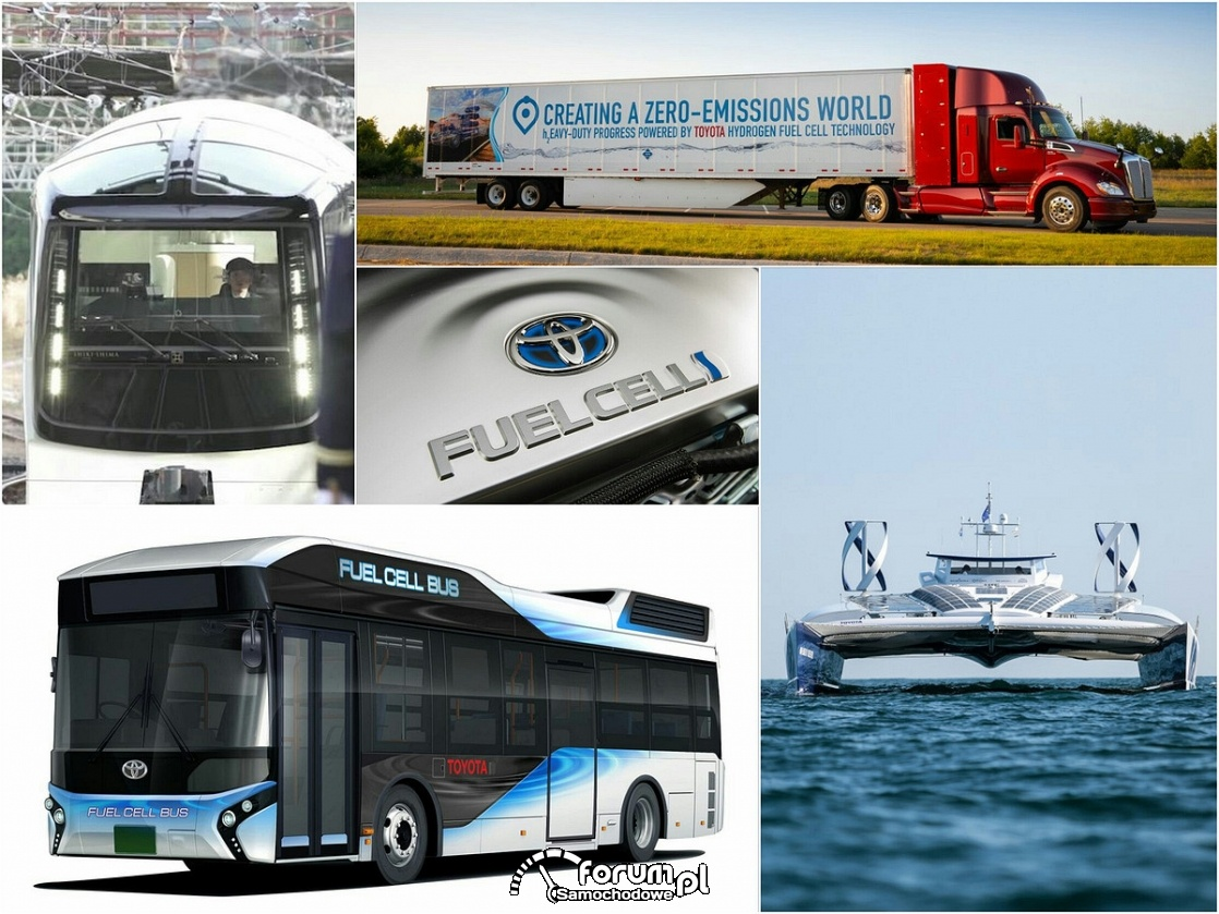 Środki transportu napędzane wodorem