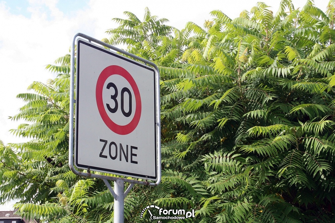 Strefa Tempo 30, ograniczenie do 30km/h