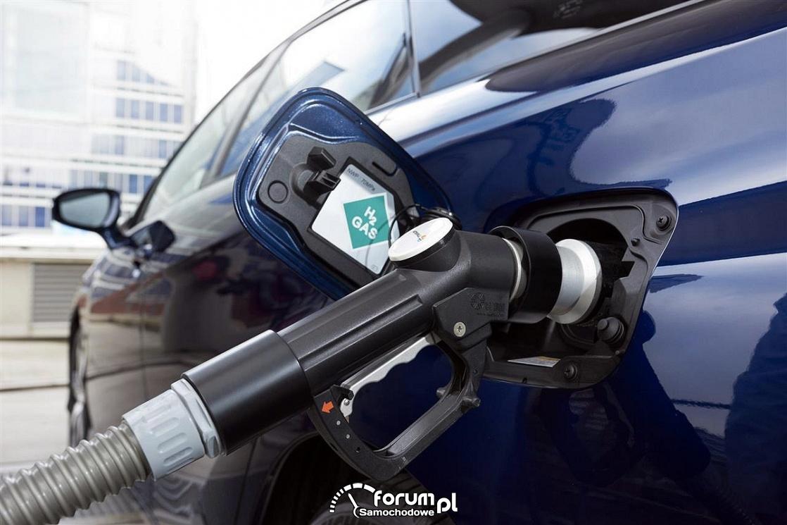 Tankowanie wodoru H2 GAS, klapka, wlew, pistolet