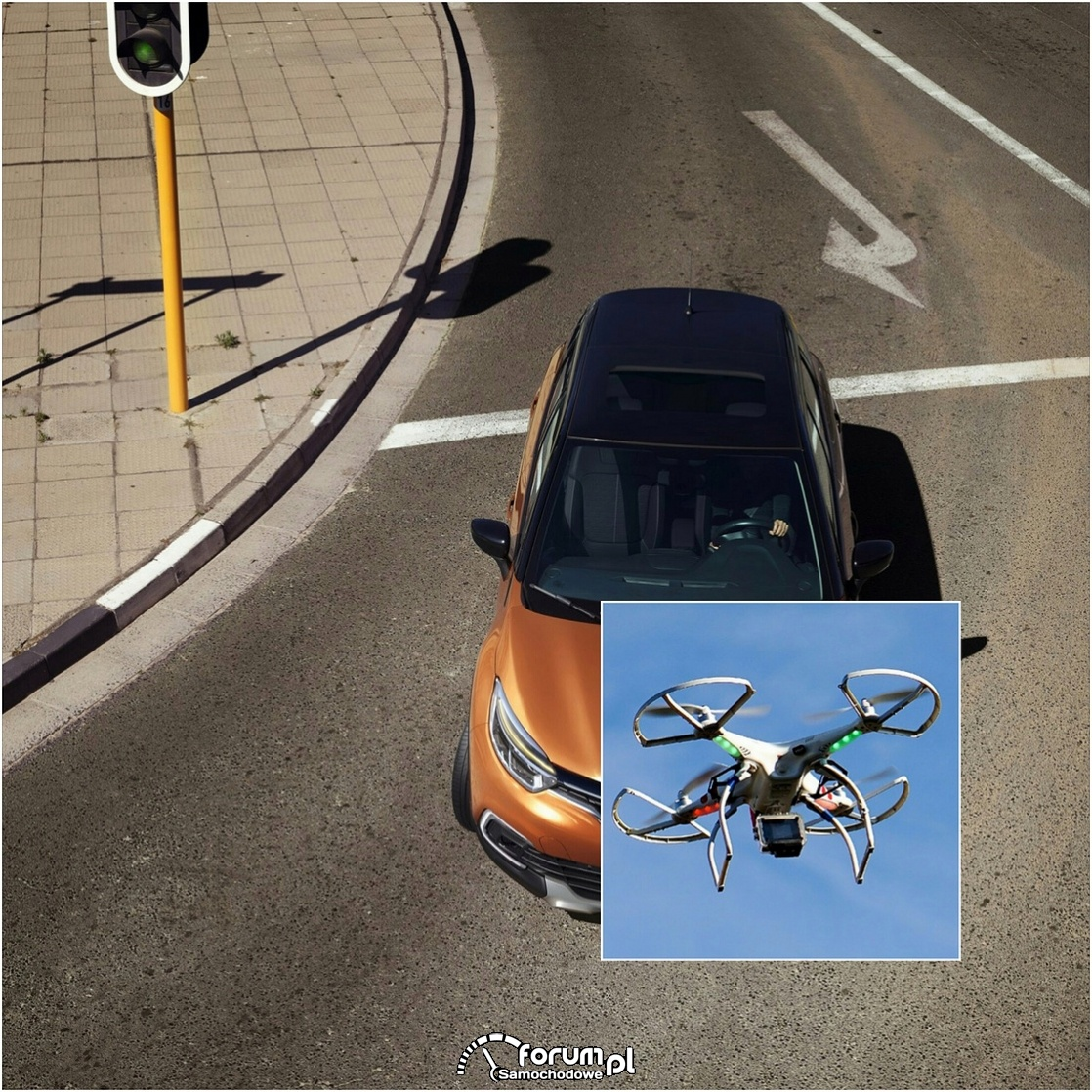 Widok skrzyżowania z drona