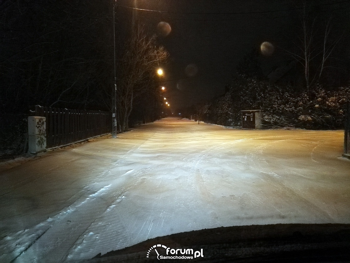 Zima, biała droga, śnieg