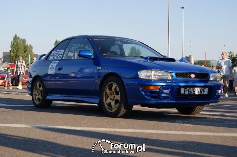 Subaru Impreza STI - wyścigi uliczne Olsztyn