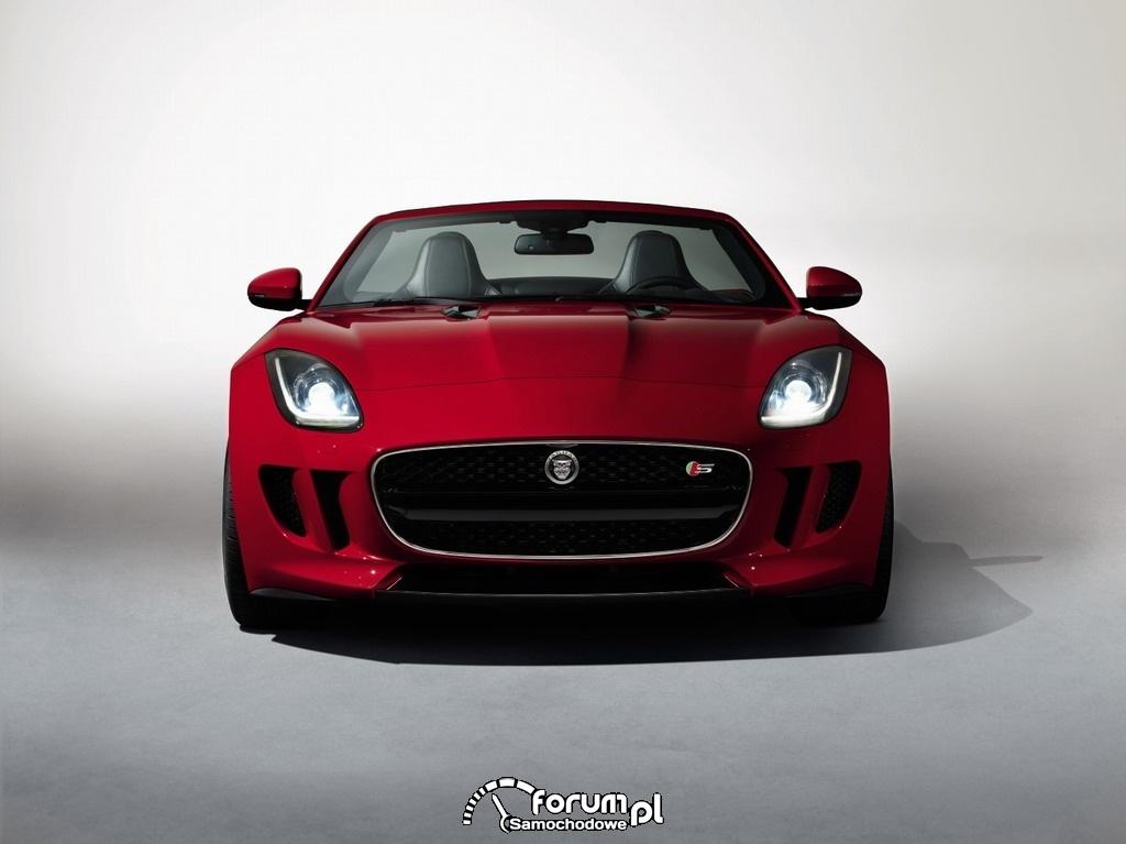 Jaguar F-Type, dwumiejscowy kabriolet, przód