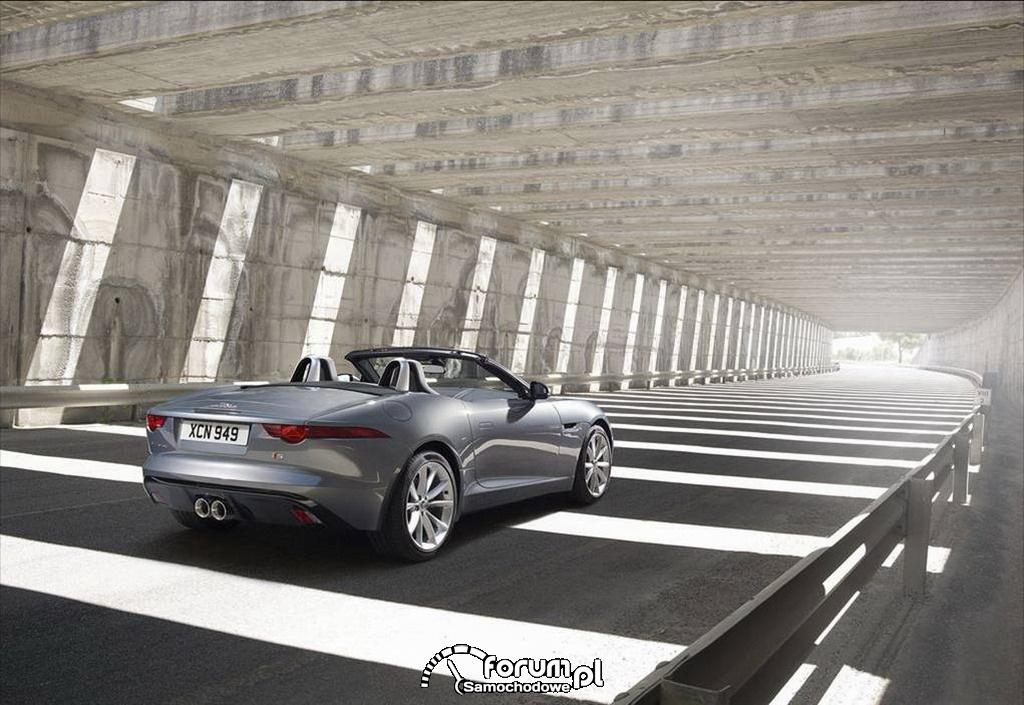 Jaguar F-Type, dwumiejscowy kabriolet, tył