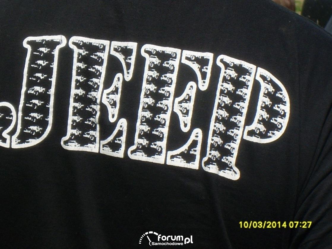 """Jeep"" napis na koszulce"