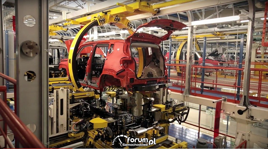 Jeep Renegade, linia produkcyjna w fabryce FCA w Melfi
