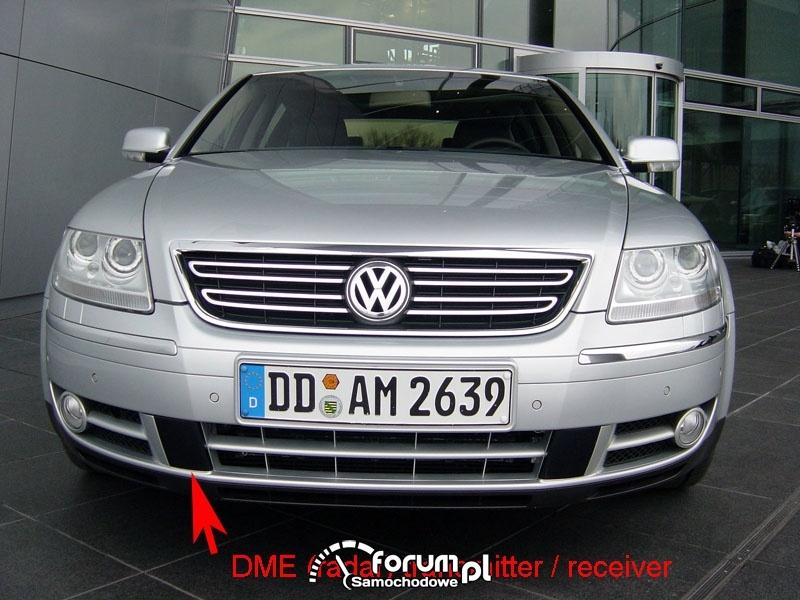 Lokalizacja radaru ACC w VW Phaeton