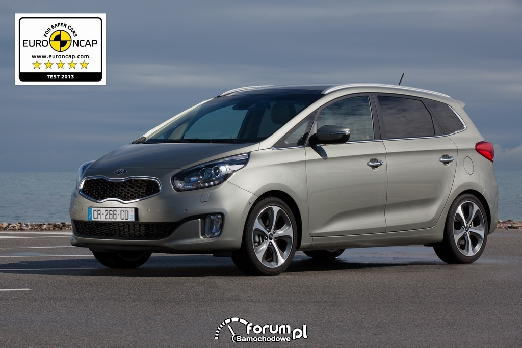 Kia Carens - 5 gwiazdek EuroNCAP 2013
