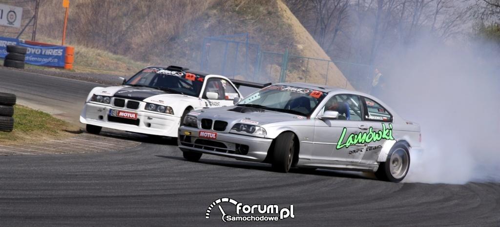 Drift BMW E36 i BMW E46 w parze