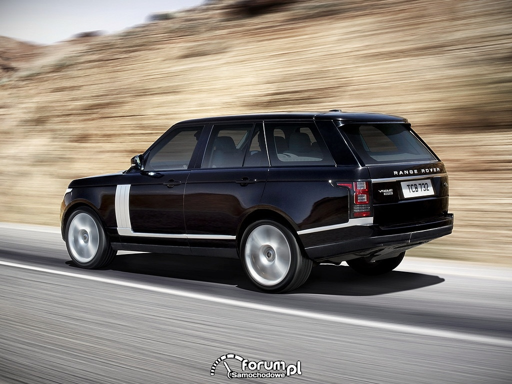 Range Rover Vogue SDV8, na trasie