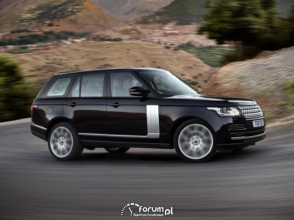 Range Rover Vogue SDV8, na zakręcie