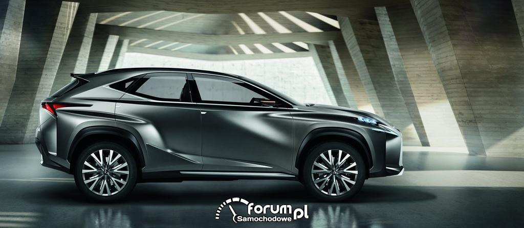 Koncepcyjny Lexus LF-NX, bok