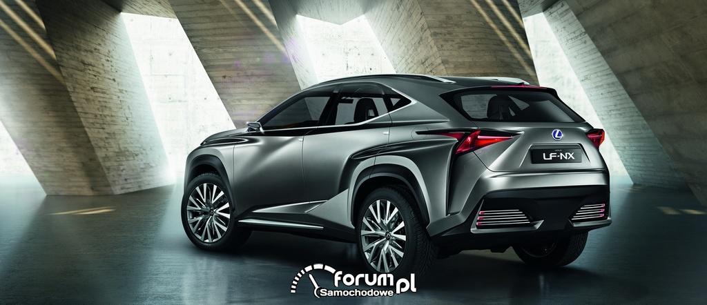 Koncepcyjny Lexus LF-NX, tył