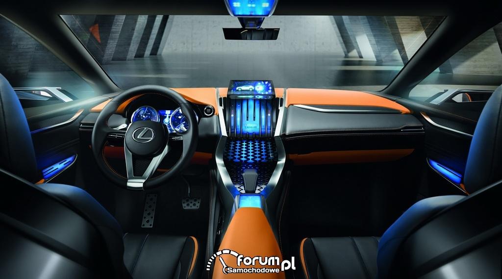 Koncepcyjny Lexus LF-NX, wnętrze