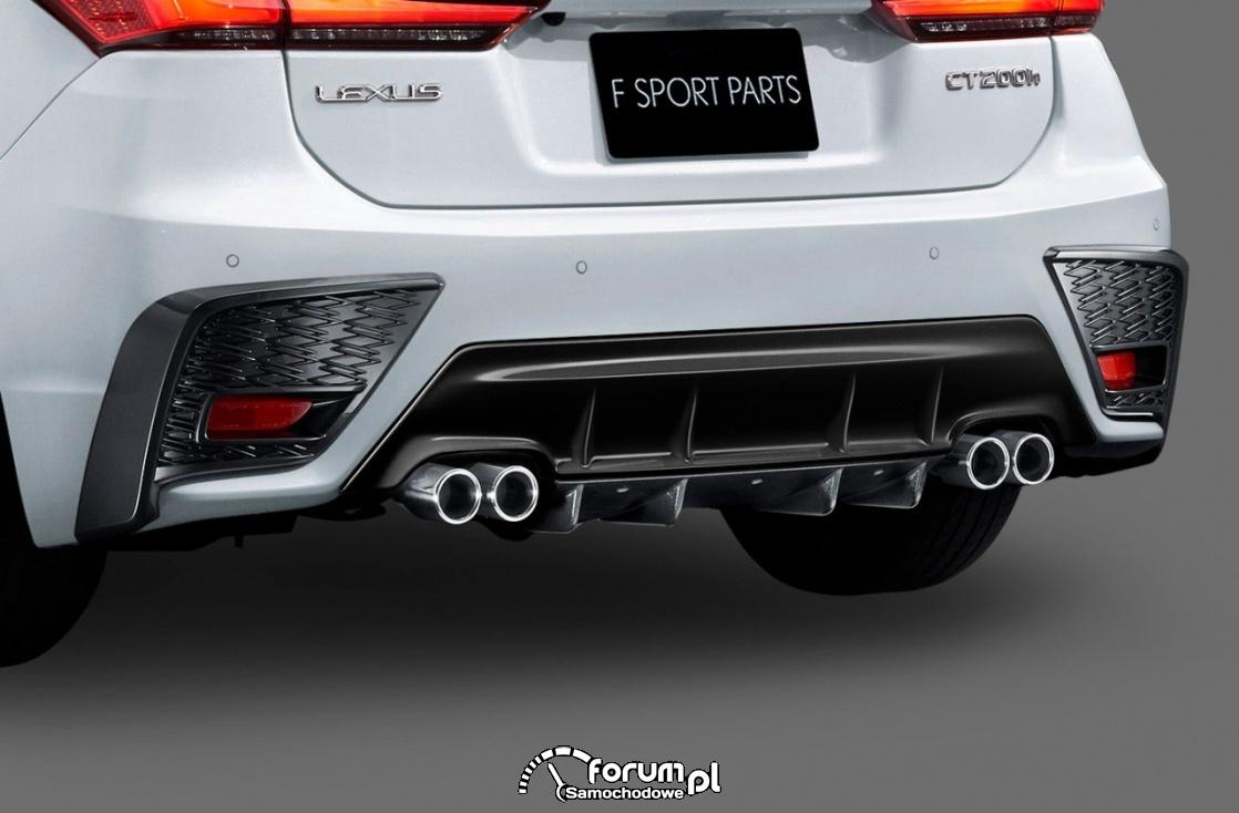 Lexus CT F SPORT, tylny dyfuzor