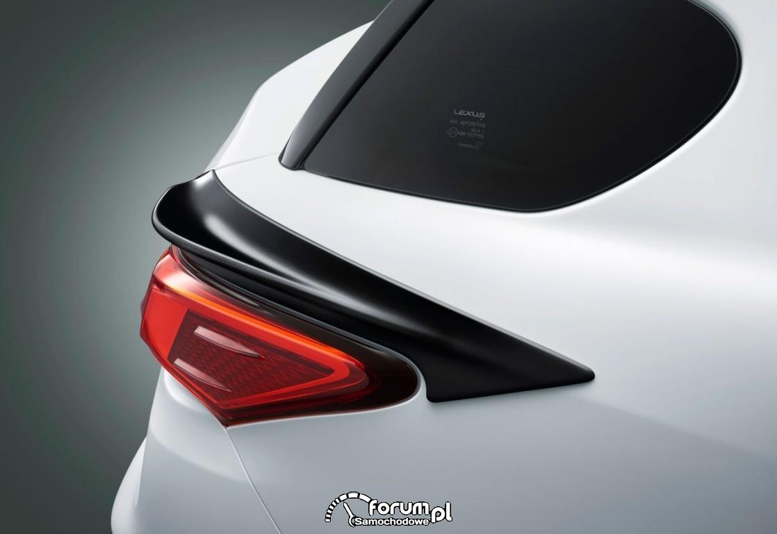 Lexus CT F SPORT, tylny spojler nad lampami