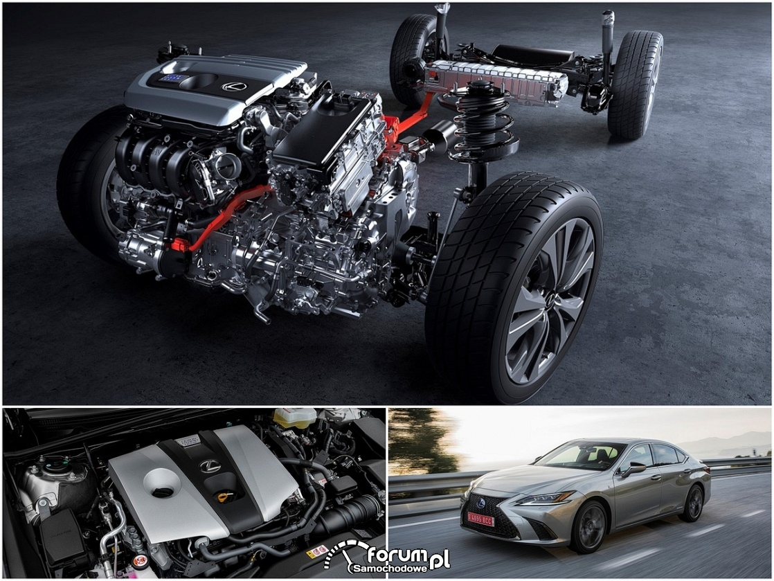 Lexus ES300h, napęd hybrydowy - przekrój