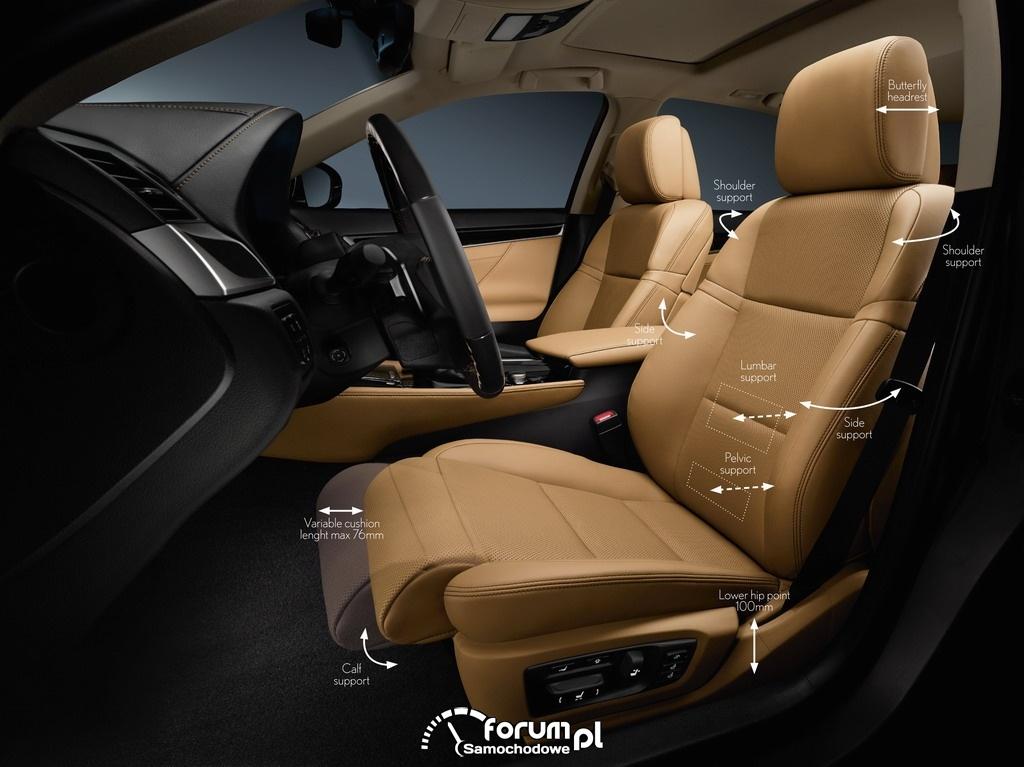 Lexus GS 2012 - przednie fotele