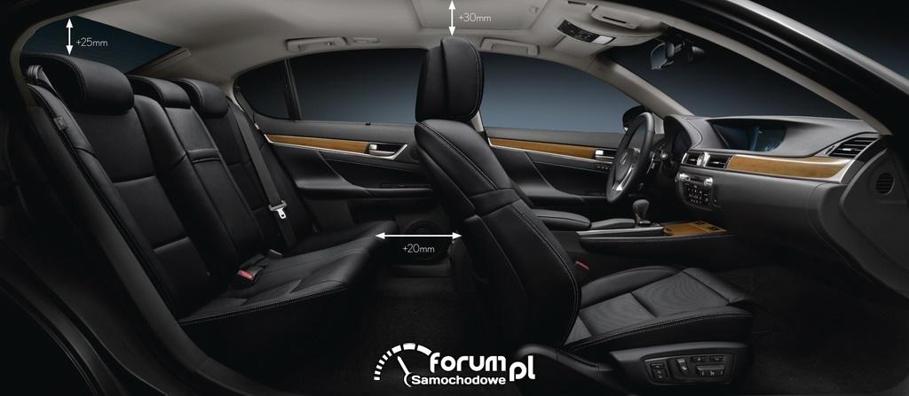 Lexus GS 2012 - wnętrze