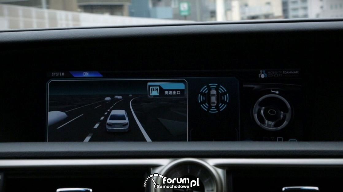 Lexus GS, Highway Teammate, System monitorujący zachowanie samochodu