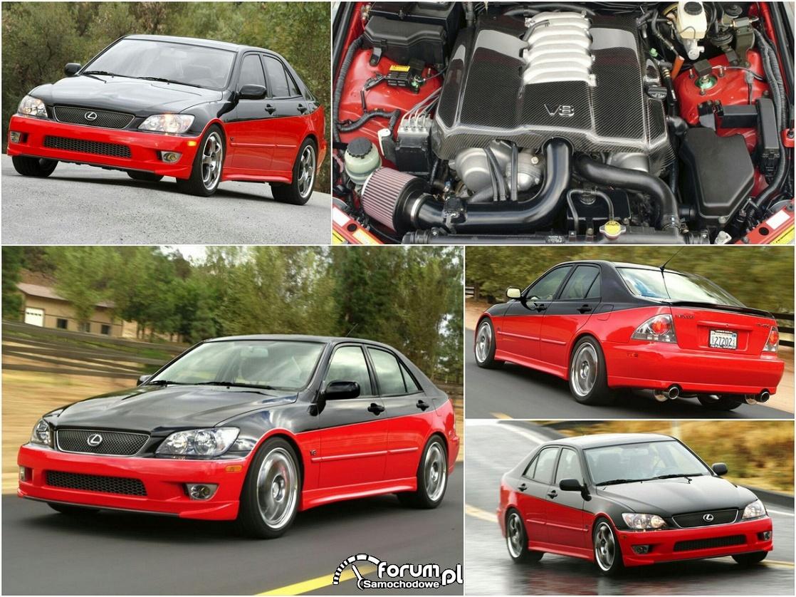 Lexus IS 430, silnik V8, czerwono-czarny