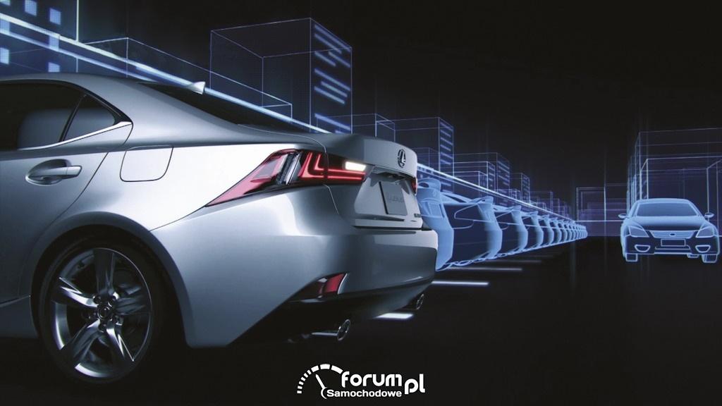Lexus IS, układ ostrzegający o ruchu poprzecznym z tyłu (RCTA)