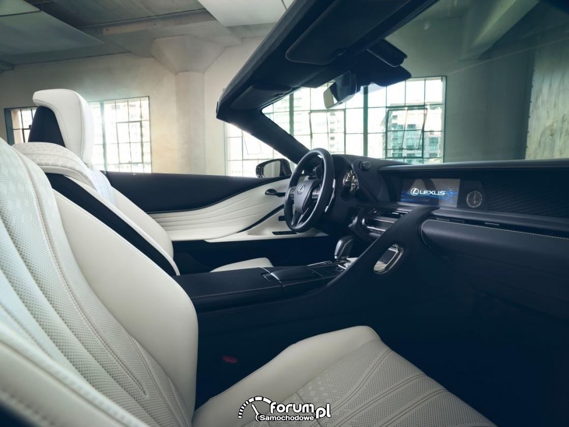 Lexus LC Convertible, concept, wnętrze