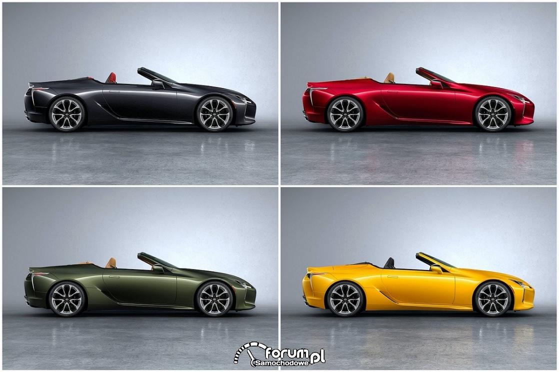 Wiele kolorów i bardzo limitowana wersja Lexusa LC Convertible