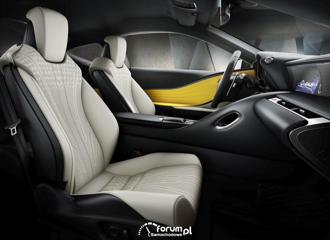 Lexus LC - yellow edition, wnętrze