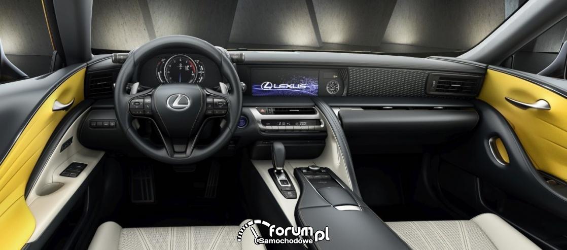 Lexus LC Yellow edition, wnętrze