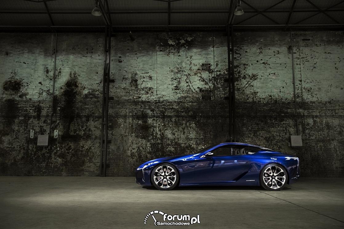 Lexus LF-LC Blue, 2012 rok, model koncepcyjny, bok