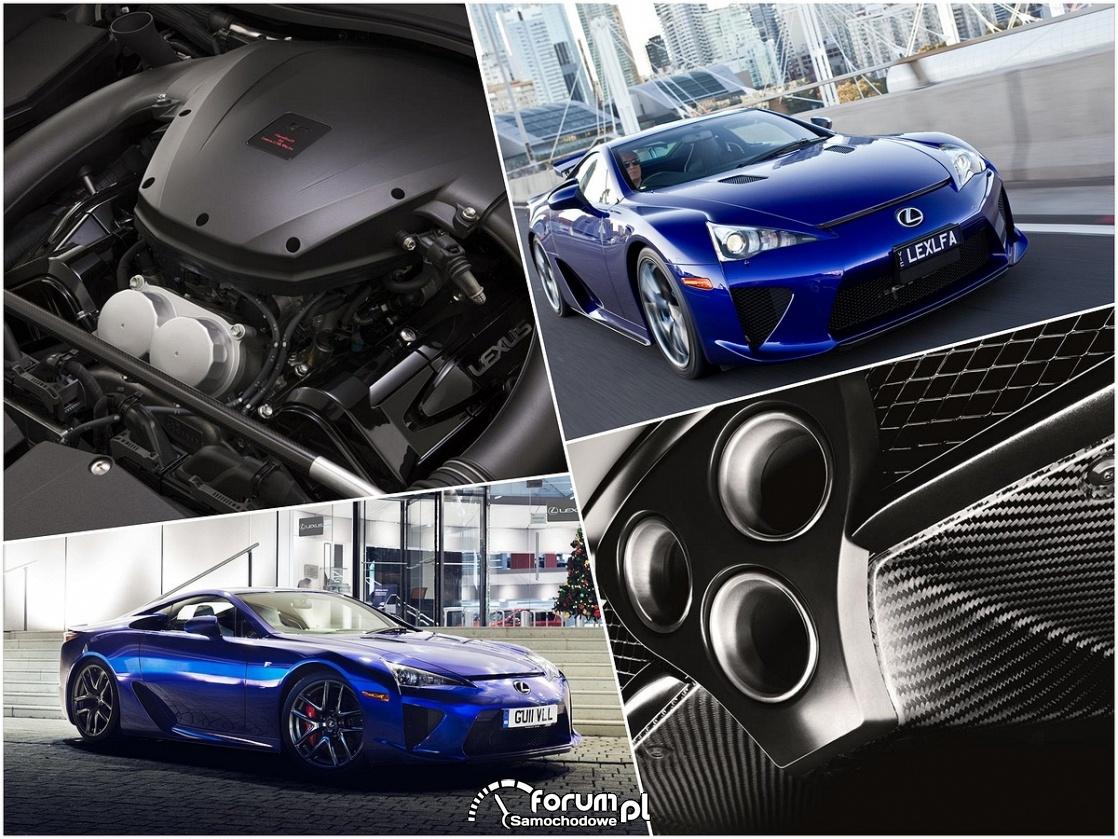 Lexus LFA, wydech, silnik
