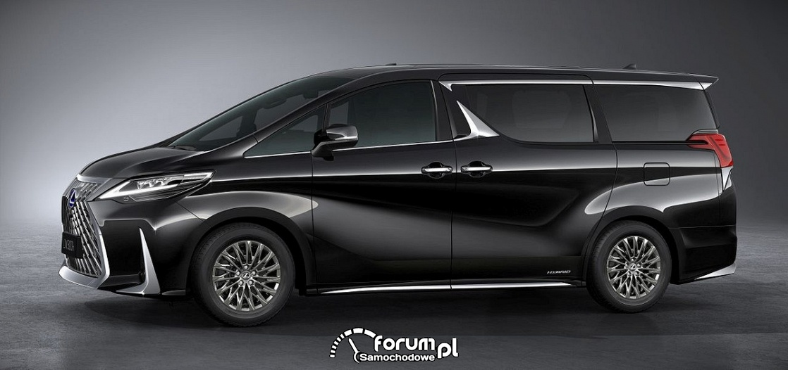 Lexus LM 300h, minivan, bok