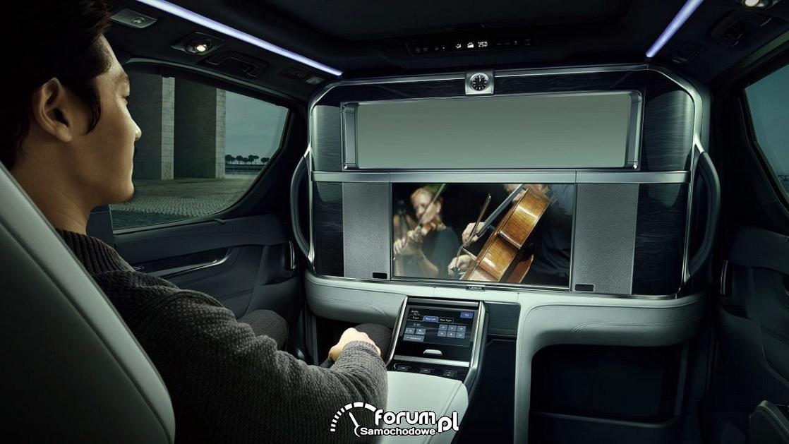 Lexus LM, wnętrze, 26 calowy ekran